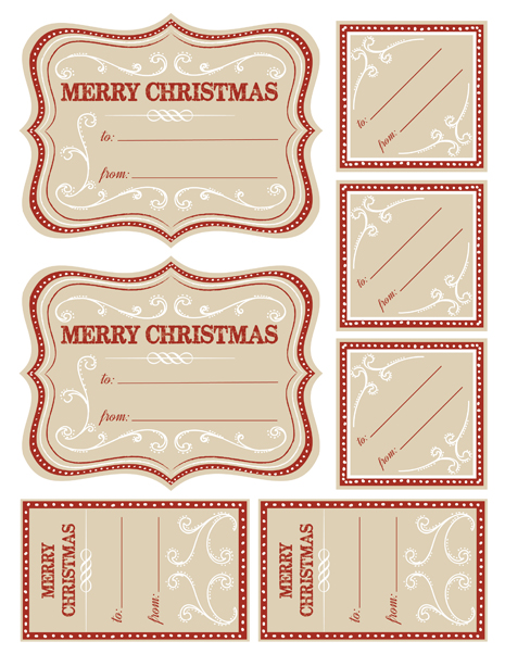 Christmas labels 2